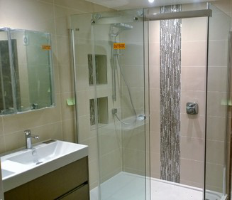 Bathroom fitting mill hill tilling company north london for Bathroom design north london